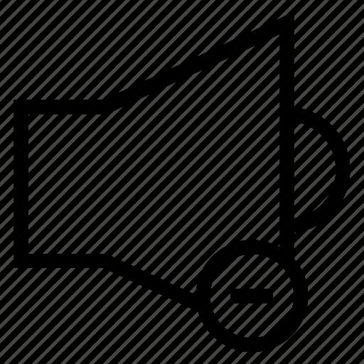 audio, device, loud, music, mute, remove, speaker icon