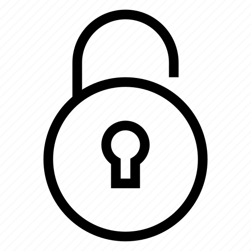 interface, privacy, protection, secure, security, unlock, unlocked icon