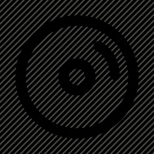 cd, disc, dvd, multimedia, song icon