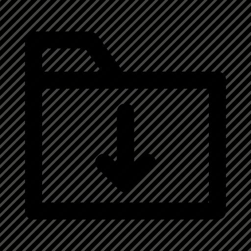 directory, download, files, folder, storage icon