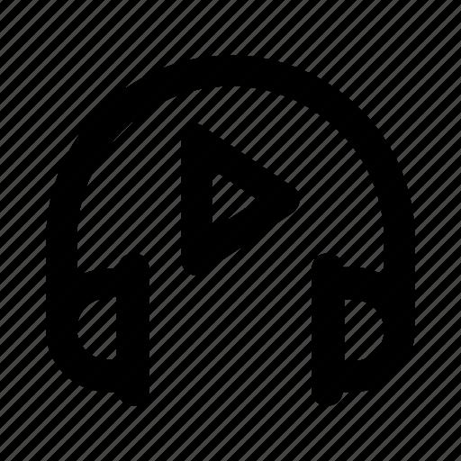 audio, headphone, music, song, video icon