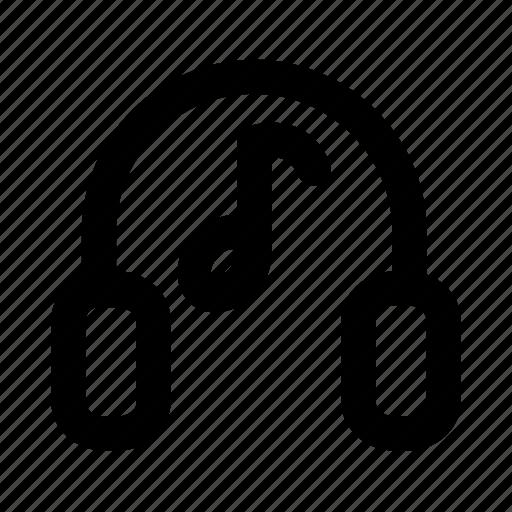 audio, headphone, headset, music, song icon