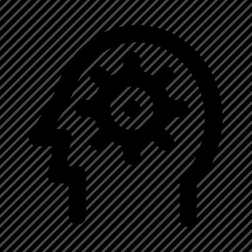 brain, configure, head, mind, setting icon