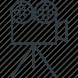 camera, film camera, film recorder, movie camera, video camera icon