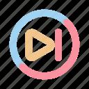 forward, media, multimedia, next, skip, track, video