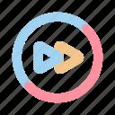 fast, forward, media, multimedia, music, play, video