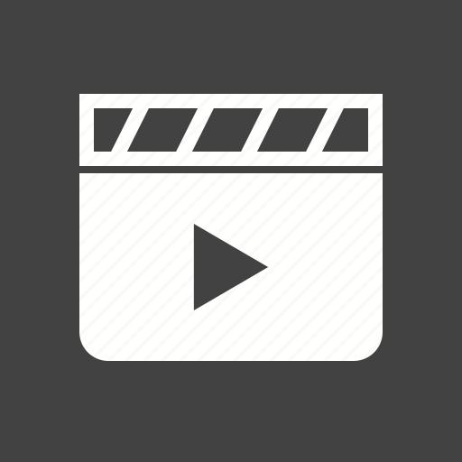 board, cinema, clapboard, clapper, clapperboard, film, movie icon