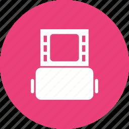 camera, cinema, film, movie, negative, reel, roll icon