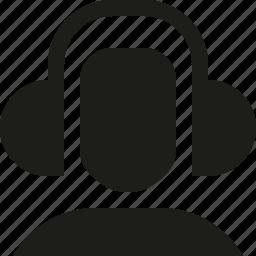 headphones, user icon