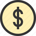 bank, banking, cash, coin, currency, dollar, money icon
