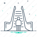 climb, escalator, ladder, moving, staircase icon