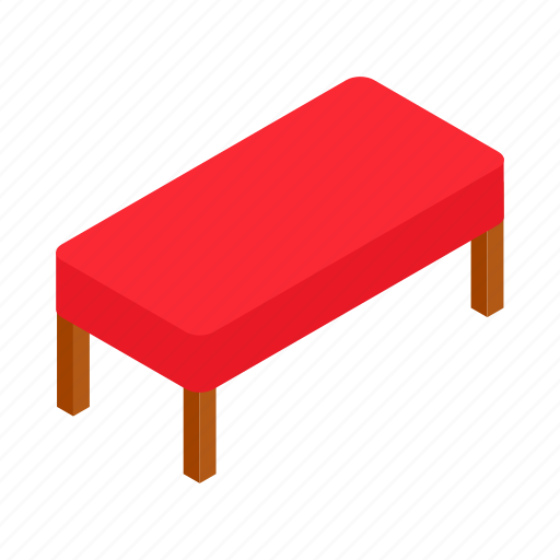 bench, couch, isometric, luxury, purple, relaxed, velvet icon