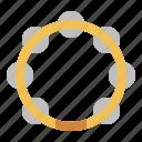 instrument, jingle, music, percussion, tambourine icon