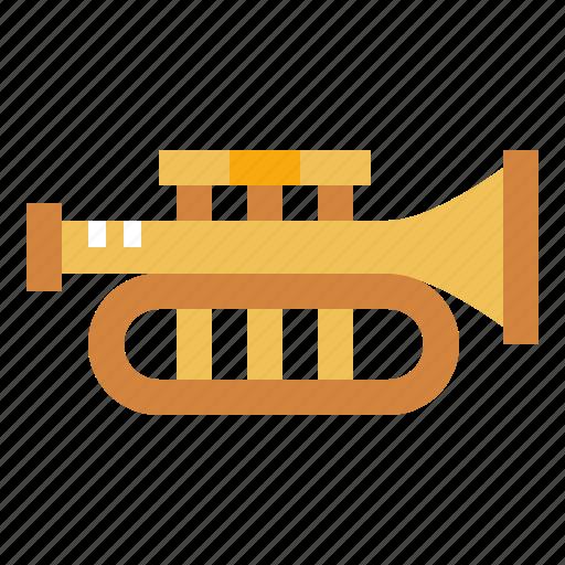 jazz, music, orchestra, trumpet icon