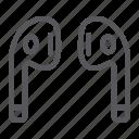 bluetooth, ear, headphones, music, sound, wireless icon