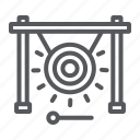 chinese, gong, instrument, music, sound, stick icon