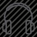 accessory, audio, dj, headphones, music, sound icon