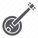 acoustic, banjo, country, folk, instrument, music, string icon