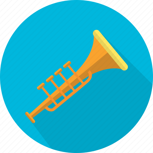 bugle, instrument, mouthpiece, music, sound, trumpet icon