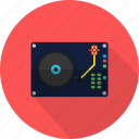 circle, disc, music, record, retro, sound icon