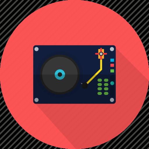 circle, disc, music, record, retro, sound icon