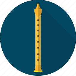 flute, instrument, music, orchestra, sound icon