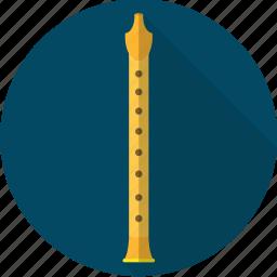 flute, instrument, music, orchestra, sound icon