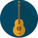 acoustic, guitar, instrument, music, retro icon