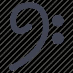 audio, base, clef, music, sound icon