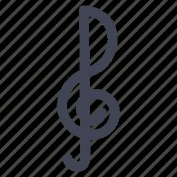 audio, instrument, key, music, note, sound icon