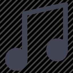 audio, entertainment, music, note, sound icon
