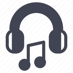 audio, headphones, headset, music, note, sound icon