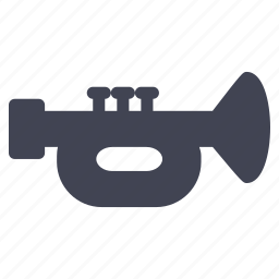 audio, instrument, music, sound, trumpet icon