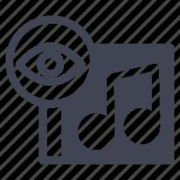 album, audio, music, sound, view, visible, vision icon