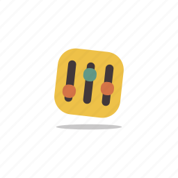 dj, equalizer, music, recording, tones icon