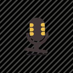 mic, microphone, music, radio, recording, singing, vintage icon