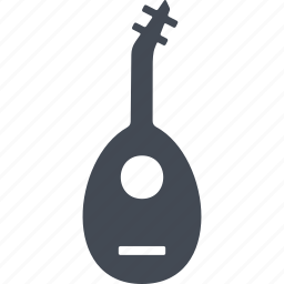 mandolin, music, musical instrument, play icon