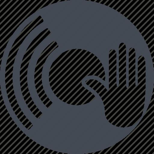 arm, dj, music, plate icon
