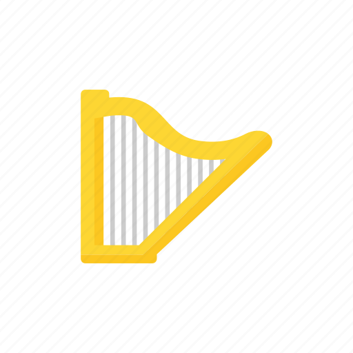 harp, instrument, lyre, music icon icon