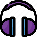gamer, headphones, listening, music, sing, song, sound icon