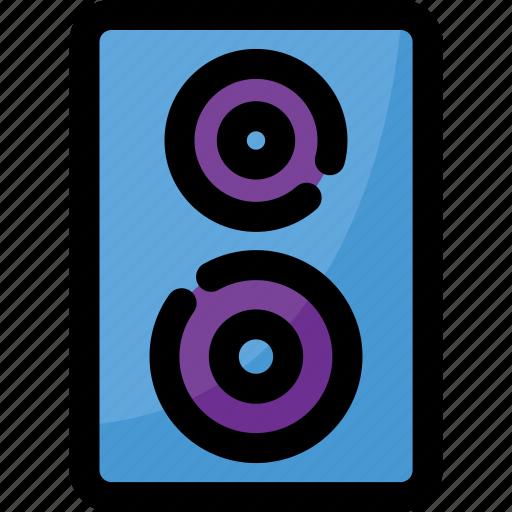 loudspeaker, music, sound, speaker, technology icon