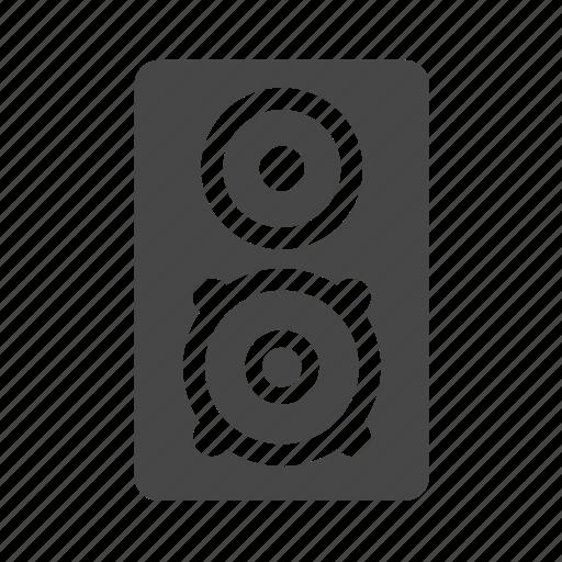 audio, loud, media, music, speakers, woofers icon