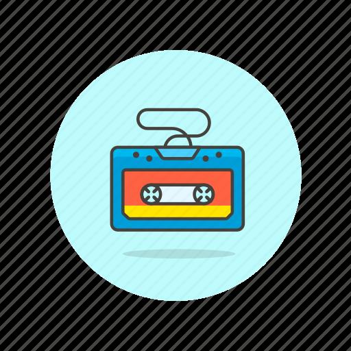 audio, cassette, instrument, music, play, retro, sound, tape icon