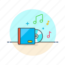 album, audio, cd, media, music, play, sound icon