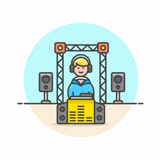 audio, booth, dj, instrument, music, party, play, sound icon