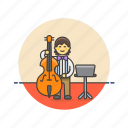 double, bassist, music, sound, instrument, play, audio, man