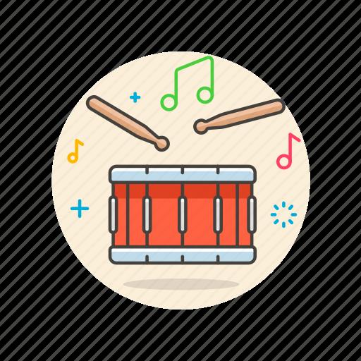audio, drum, hit, instrument, music, play, sound icon