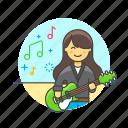 asian, female, guitarist, music icon