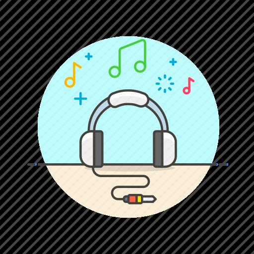 audio, headphones, instrument, music, play, sound, speaker icon