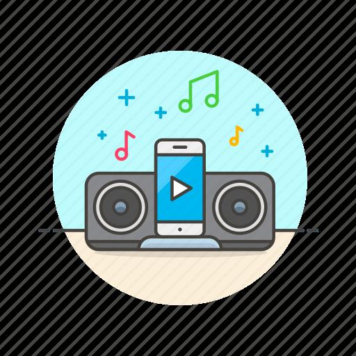 audio, dock, gadget, iphone, ipod, music, play, sound icon